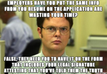 Schrute fact - found this one out yesterday at a job fair