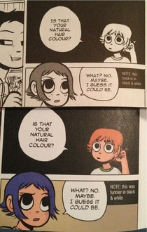 Scott Pilgrim before and after color