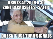 Scumbag Elderly Driver