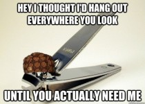 Scumbag nail clippers