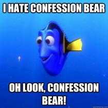Scumbag Redditors about Confession Bear