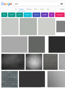 Searched gray and was waiting for images to load