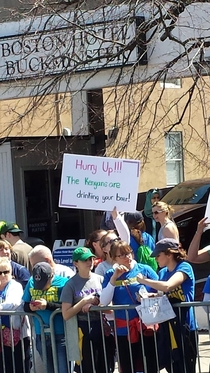 Seen at the Boston Marathon