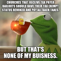 Separation of church and state anyone