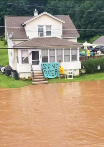Several counties in PA are flooding due to record amounts of rainfall over the past few weeks Thousands of small-town residents are cut off from supplies - tragic images like this are surfacing on social media