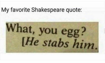 Shakespeare quotes never gets old