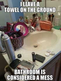 Sharing a bathroom with a girl