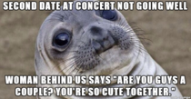 She was on Tinder the rest of the concert