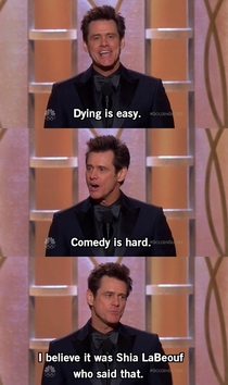 Shots Fired by Jim Carrey at the st Golden Globe