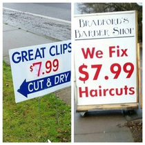 Shots fired by the local Barber shop
