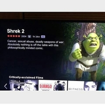 Shrek  a little darker than I remembered as a kid