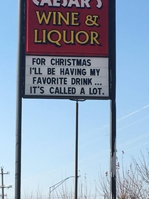 Sign at my local liquor store
