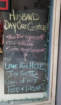 Sign in window of local bar