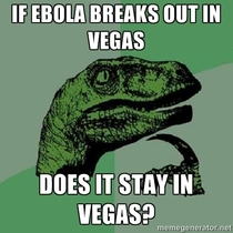 Since of the recent USA ebola outbreak