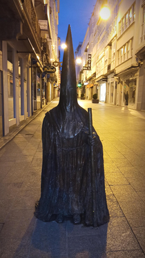 Since people from rfunny seemed to enjoy my last post about confusing Spanish Easter traditions let me introduce you to Capuchoncio the most beloved statue in my hometown