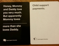 Single dad of  just had this played on me in CAH