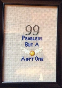 Sister-in-law made another cross-stitch Harry Potter fans will enjoy this one