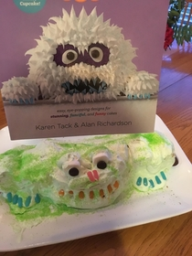 Sisters attempt at a Yeti Cake