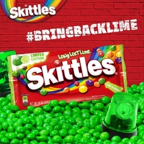 SKITTLES ADMITS THEY FUCKED UP SWAPPING GREEN APPLE FOR LIME  YEARS AGO