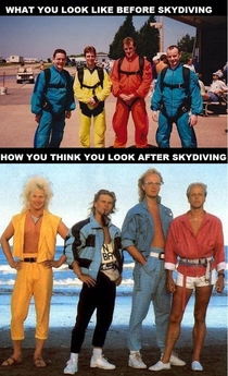 Skydiving - Who wore it best