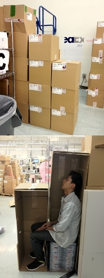 Sleeping at work level Asian