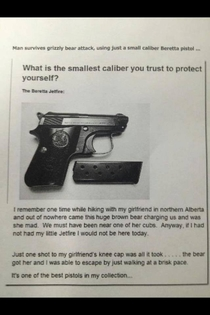 Smallest caliber you trust to protect yourself