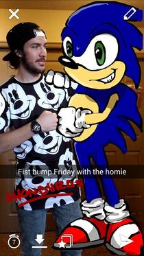 Snapchat with Sonic the Hedgehog