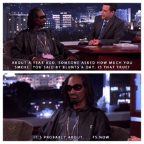 Snoop on cutting down