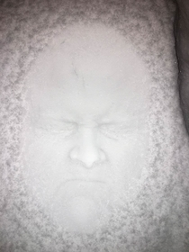 Snow facechallenge dunk your face in the snow and show the results
