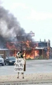 So a Coltons Steakhouse burned down in my town yesterday