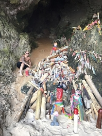 So a friend of mine visited a cave in Thailand full of dildos