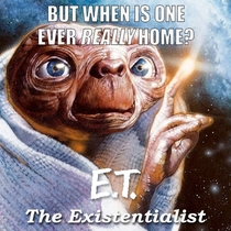 So a girl I was texting over the weekend confused the word existential with extra-terrestrial and started talking about aliens I sent her this