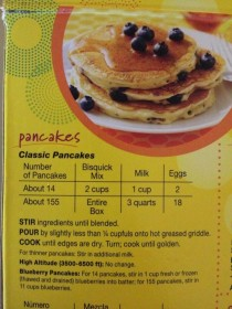 So do you want about  pancakes or