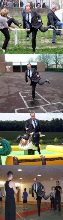 So french President jumped a fence