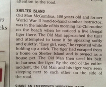 So heres the police report in my towns newspaper