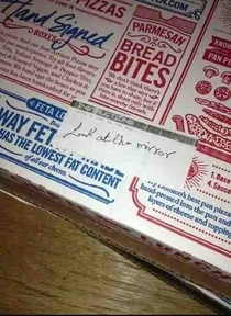 so I asked dominoes to write a joke on the box