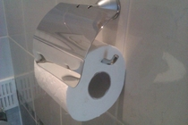 So I asked my  year old daughter to replace the toilet paper roll Job well done