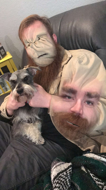 So I attempted to face swap with my pooch