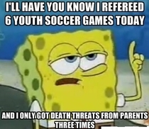 So I did some soccer refereeing today