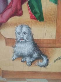 So I found this dog portrait in a museum in France