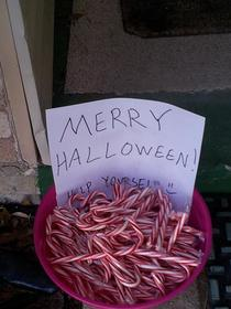 So I had a lot of candy canes left over from Christmas last year