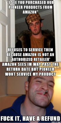 So i just had this experience with Pioneer and amazon