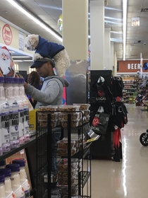 So - I just saw this guy at the store with a dog on his head