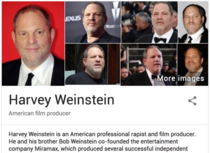 So I Just Searched Harvey Weinstein on Google