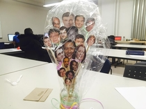 So I received a bouquet of all of my professors heads as a graduation gift