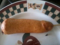 So I tried making homemade corndogs for the first time