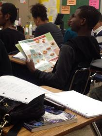So I was in class when I saw this guy reading an IHOP menu