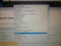 So I was looking through the available courses at my university Sorry for quality