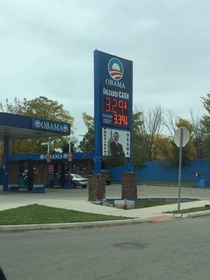 So in Detroit we have Obama gas stations