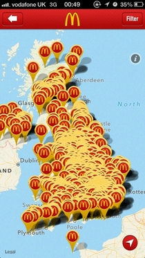 So Ive just installed the UK McDonalds app
